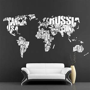 cool wall stickers big map by artollo With awesome wall decal directions