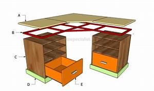 Woodwork L Shaped Desk Plans Diy PDF Plans