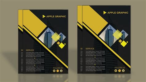 cool graphic templates photoshop how to design company profile template photoshop