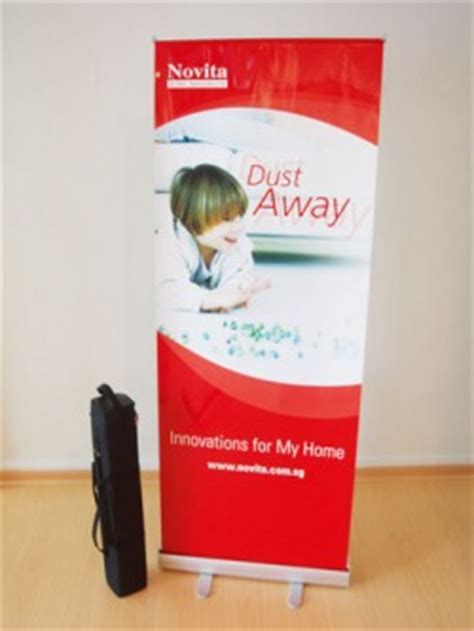 pull up banner roll up banner bideas productions singapore large format printing events and