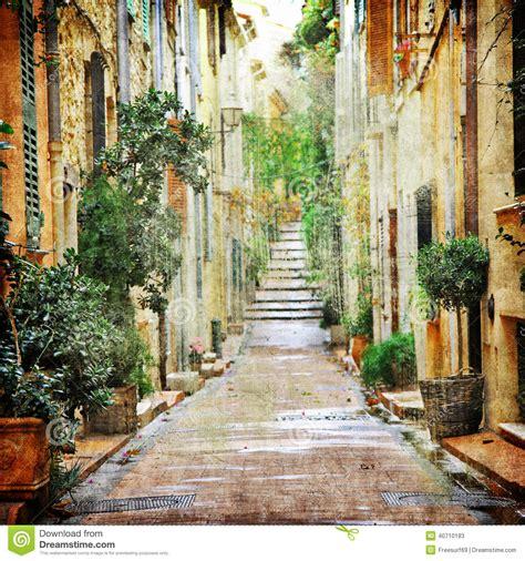 charming streets  mediterranian stock photo image