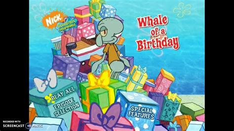 Whale Of A Birthday Dvd Menu
