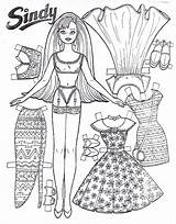 Coloring Doll Paper Clothes Popular sketch template