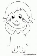 Coloring Parts Eyes Outline Clipart Pointing Pages Child Kid Worksheets Template Learning Printable Preschool Face Head Flashcard Site Human Clipground sketch template