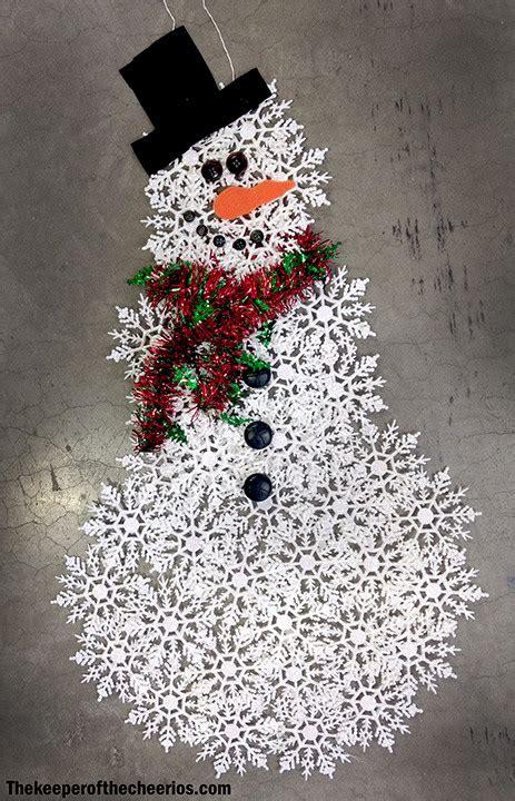 dollar store snowflake snowman  keeper   cheerios