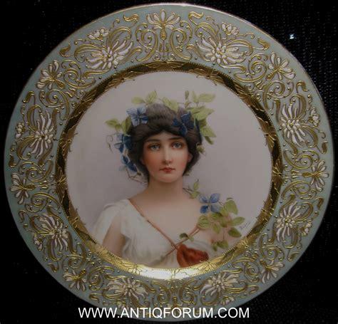 royal vienna portrait plates  wagner   appraisal
