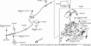Nissan Murano Bracket Complete Control Lever  Transmission