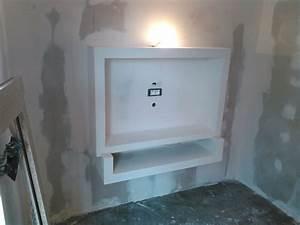 Construire Un Placard En Placo : fabriquer meuble tv placo meuble et d co ~ Melissatoandfro.com Idées de Décoration