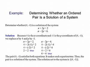 Systems Of Linear Equations And Their Solutions