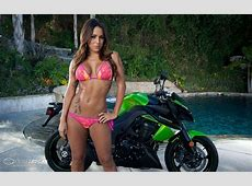 Motorbike And Hot Babe Wallpaper Hd Car Wallpapers