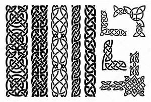 Celtyckie wzory i narożniki celtycki ornament — Grafika ...