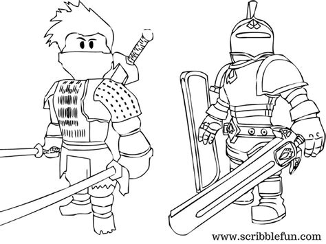 Roblox Noob Free Coloring Pages