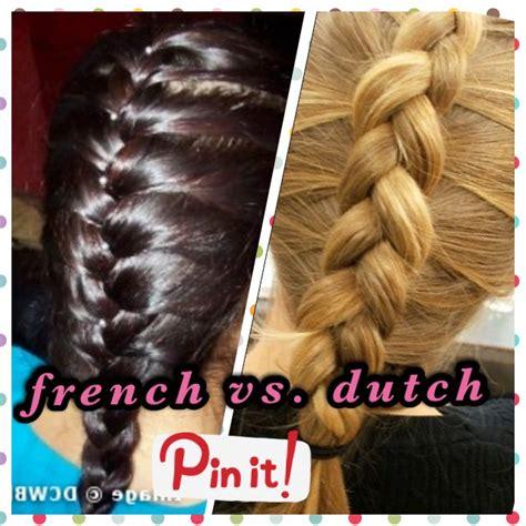 french braid  dutch braid   difference