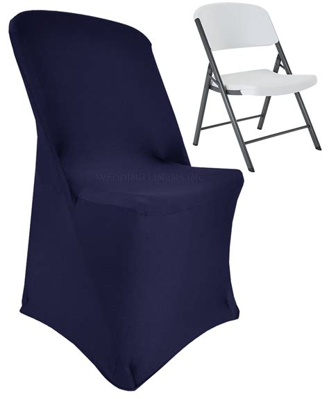 navy blue lifetime folding spandex chair covers stretch