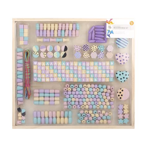 alphabet wooden bead set kmart