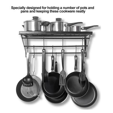 iron hanging pot holder frying pan hanger kitchen storage cookware  hooks rack  ebay
