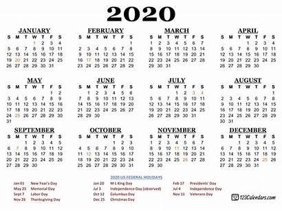 Calendar Holidays Federal Usa Printable 123calendars Template