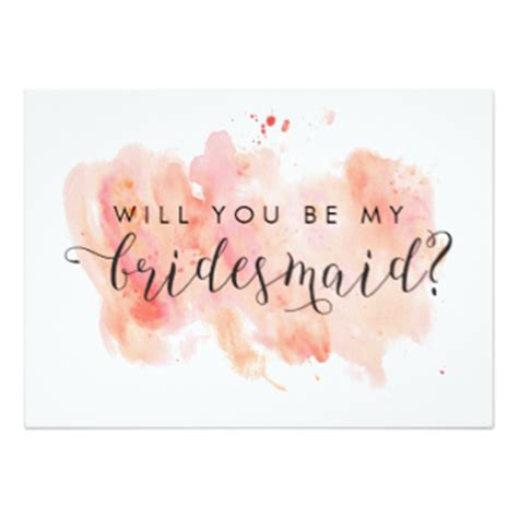 will you be my bridesmaid cards invitations zazzle au