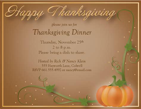 thanksgiving invitation ideas