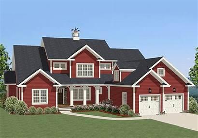 Plan Traditional Plans Bonus Floor Huge Farmhouse