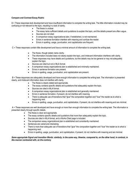 compare and contrast essay outline template compare and contrast essay outline template write language arts language and