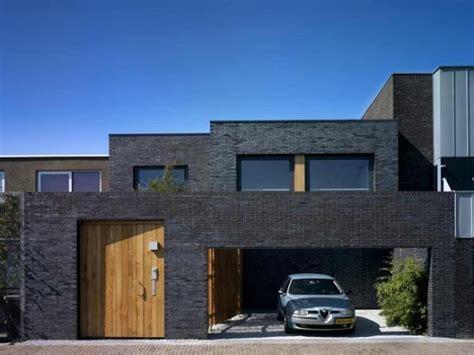 black brick house black brick modern exterior exteriors pinterest