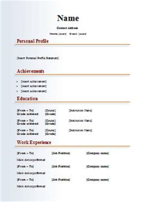 acting resume sle free fax cover letter exle