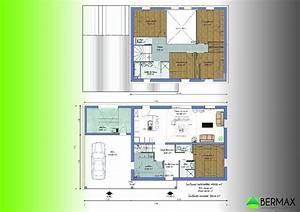 Plan Maison 6 Chambres : plan maison en u 6 chambres ~ Voncanada.com Idées de Décoration