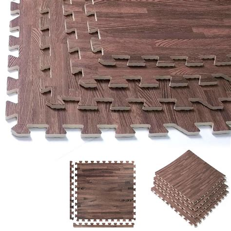 32 sqft soft wood grain mats foam interlocking