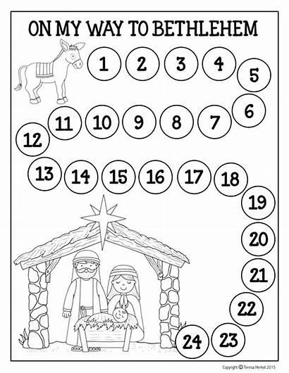 Advent Christmas Jesus Activities Calendar Nativity Preschool