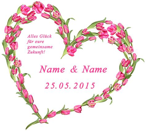 ein hochzeitsherz aus tulpen text  pink wwwrosen herzde