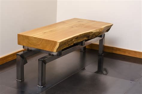 end table industrial factory slab wood steel 78 best images about Steunk