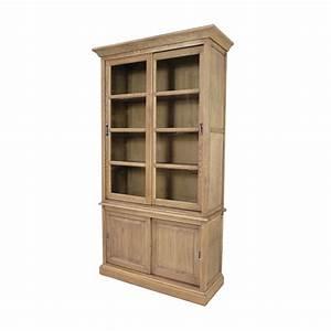 Bibliotheque Chene Massif : biblioth que 4 portes ch ne massif beaux meubles pas chers ~ Teatrodelosmanantiales.com Idées de Décoration