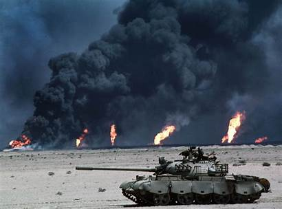 Desert Storm Operation Tanks Oil Fires Army