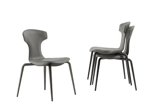 Montera Stackable Chair By Poltrona Frau Design Roberto