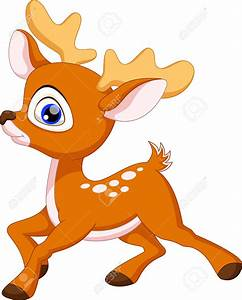 Cute Baby Deer Clipart - ClipartXtras