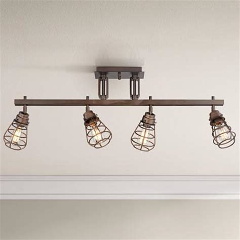 pro track 174 bendlin industrial 4 light bronze track fixture