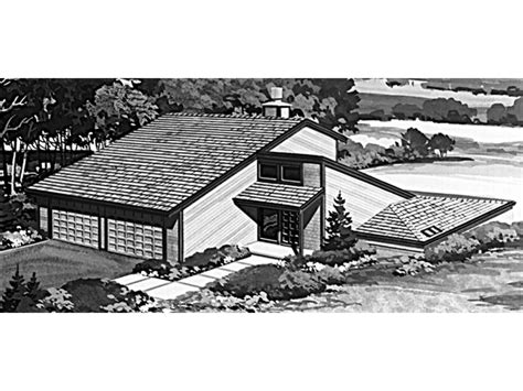 genesta contemporary berm home plan   house plans