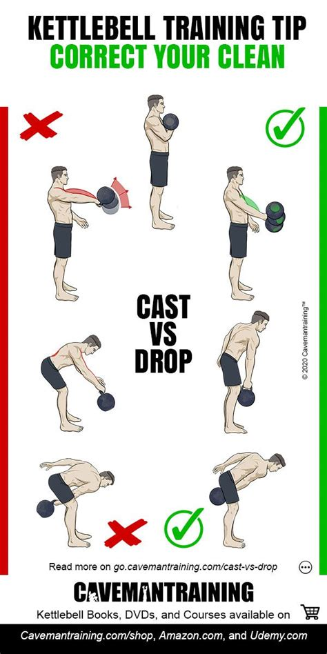 kettlebell clean drop cast cavemantraining yourself