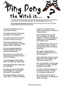 Halloween Movie Trivia Games Printable