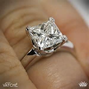 princess cut solitaire engagement rings vatche 5th avenue solitaire engagement ring for princess cut diamonds 2340