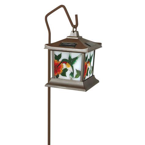moonrays 92271 hummingbird style solar light stained