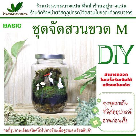 ชุดจัดสวนในขวดแก้ว DIY ไซต์ M basic   Shopee Thailand