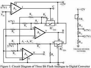 gt circuits gt three bit flash analog to digital converter With types of circuits