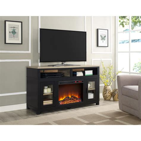 electric fireplace tv stand home depot carver black electric fireplace 60 in tv stand 1774196com