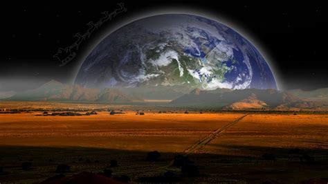 planet rise wallpaper hd