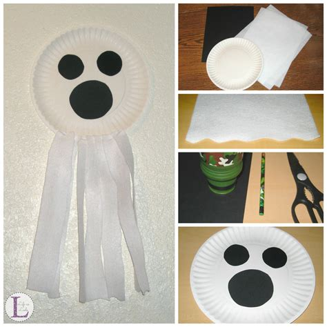 paper plate ghost craft as leels 638 | Paper Plate Ghost Craft