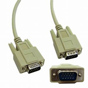 6ft Vga Cable  Low Resolution  Hd15 Male