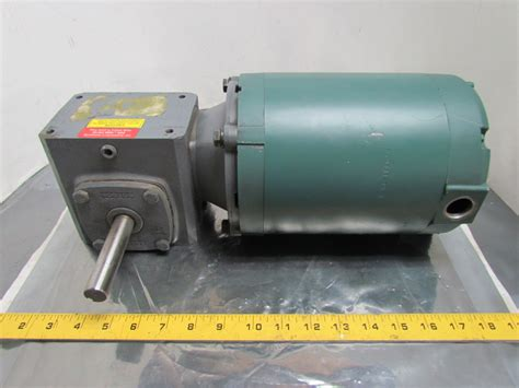 Electric Motor Reducer by Reliance Electric 3 4 Hp 3ph 56c Motor W Boston 5 1 Speed