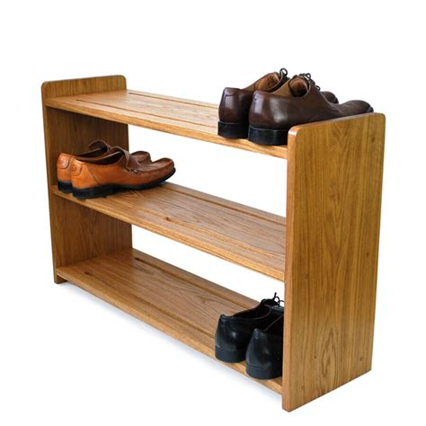 the shoe rack oak shoe racks handmade in solid oak various sizes
